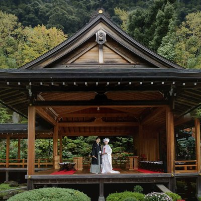 Elope on a Noh Stage in Japan