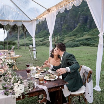 Janel Parish and her Kualoa Ranch Hawaii Reception