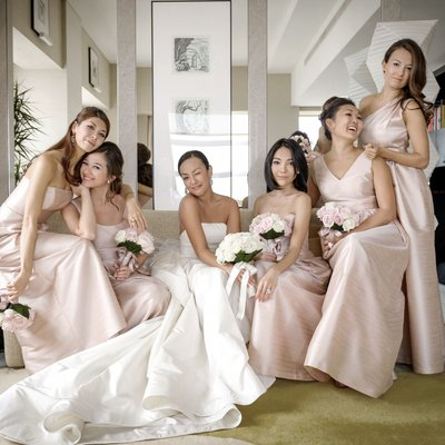 Bridesmaids in Vogue-Inspired Shoot