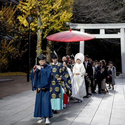 Traditional Shrine Wedding Ceremony in Japan