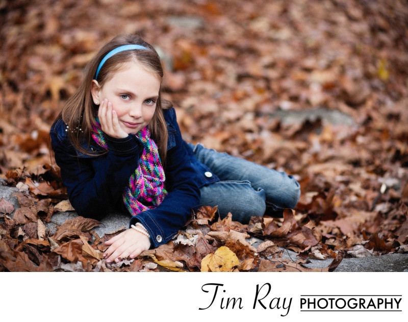 Fall portrait of young girl