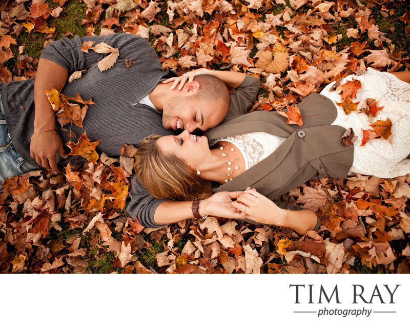 Fall Engagement Portrait at Valley Falls State Park