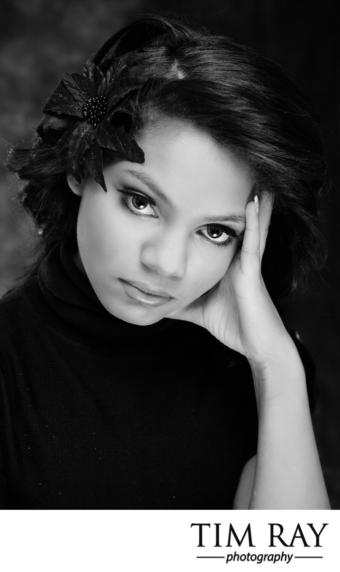 Black and White Headshot Portrait