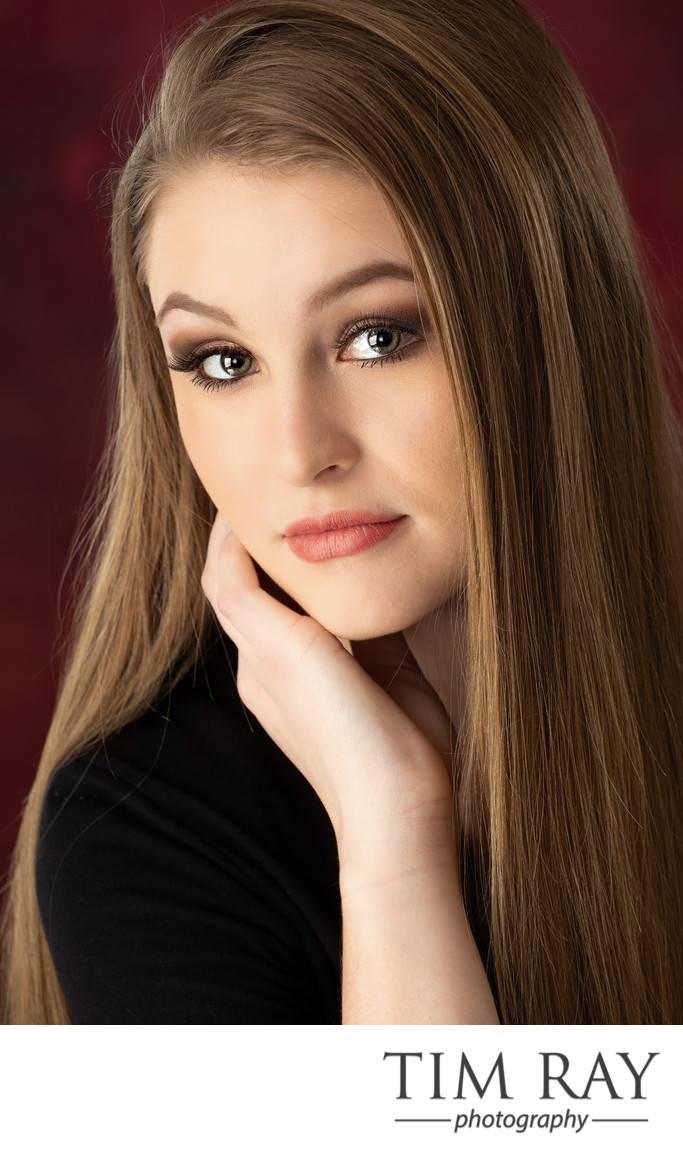 Glamorous senior portrait created by top wv senior portrait photographer