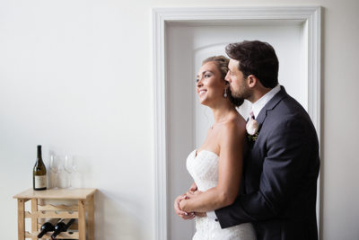 Bride and groom portrait by top WV wedding photographer Tim Ray