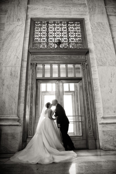 Wedding Couple at the WV State Capitol - West Virginia Wedding Photographs: Top Photographer - Tim Ray Photography