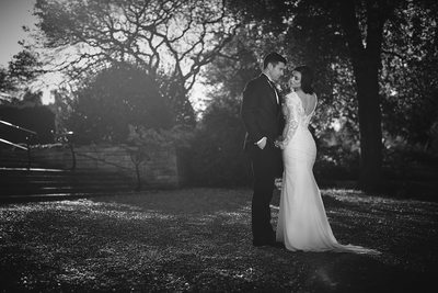 Timeless Black and White Wedding Portrait