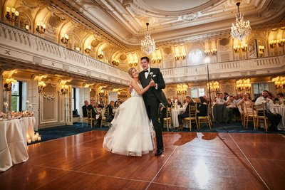 Chicago Blackstone Hotel first dance