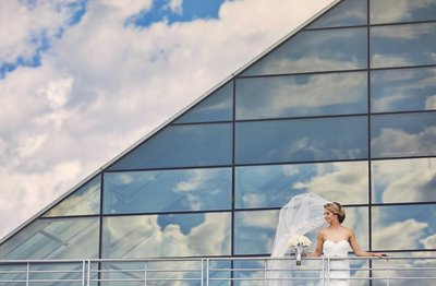 The Adler planetarium Chicago wedding