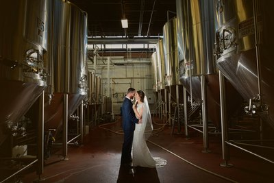 Revolution Brewery & Tap room wedding photos