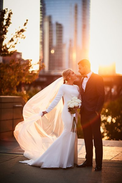 Chicago sunset wedding