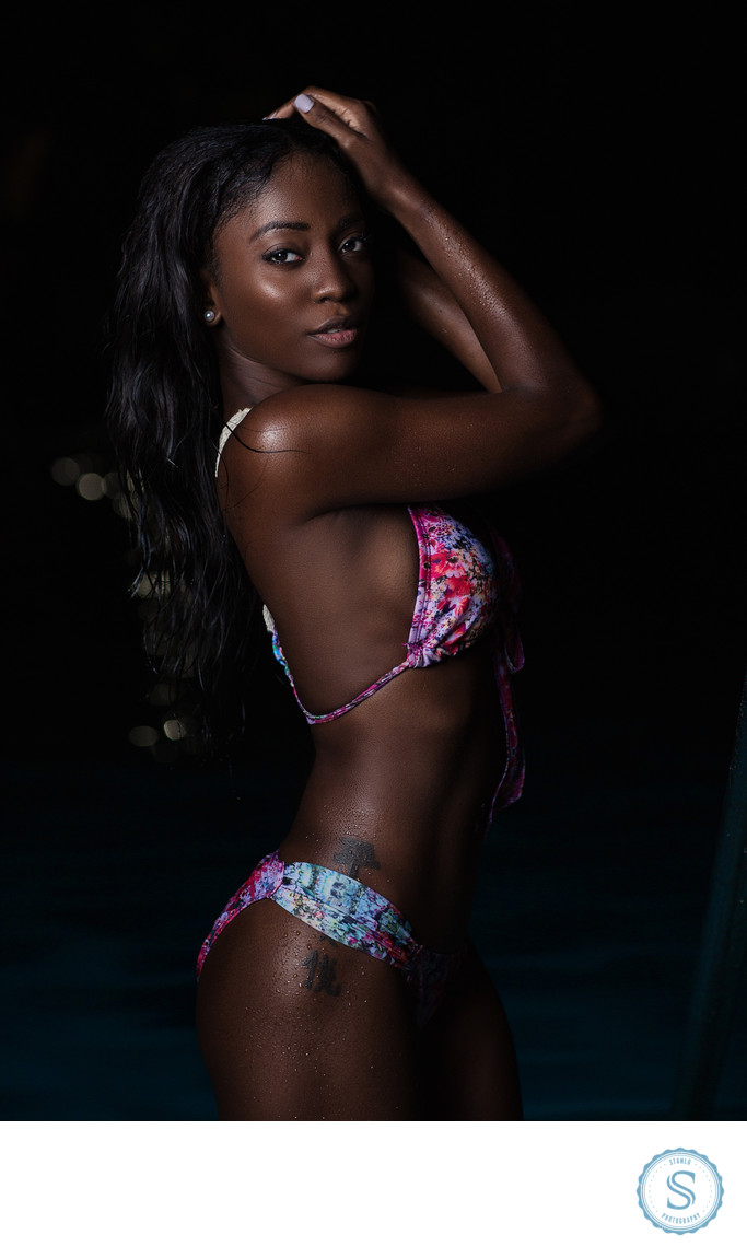 Fashion Swimwear Photoshoot Night