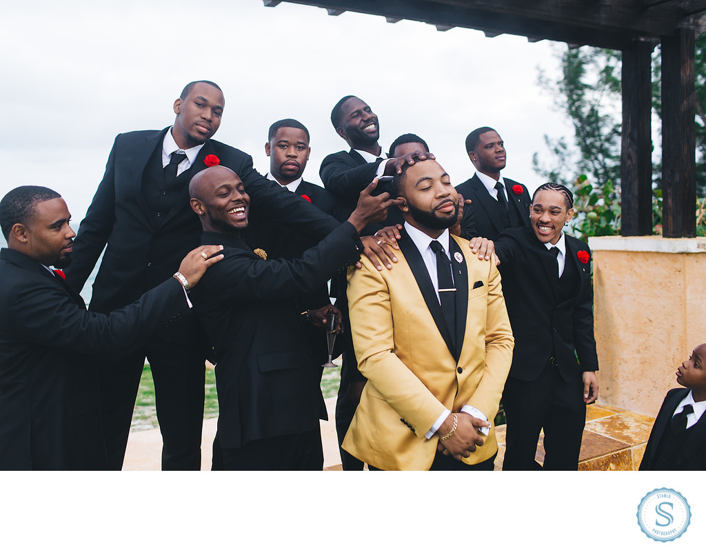 Groomsmen Bahamas Wedding Photographer