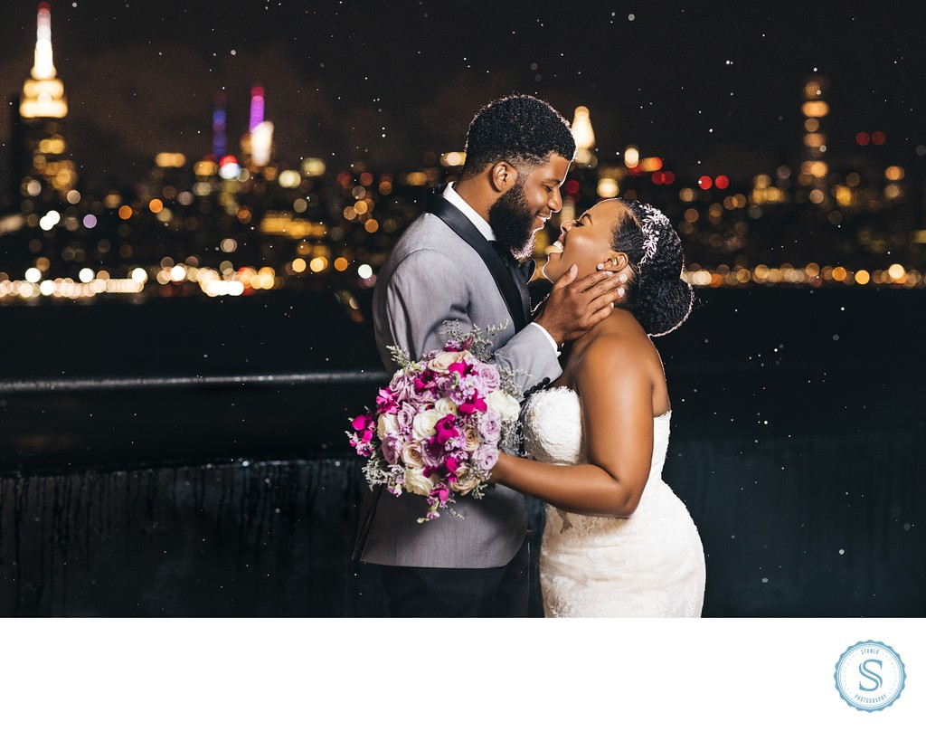 Brooklyn Skyline Rain Wedding
