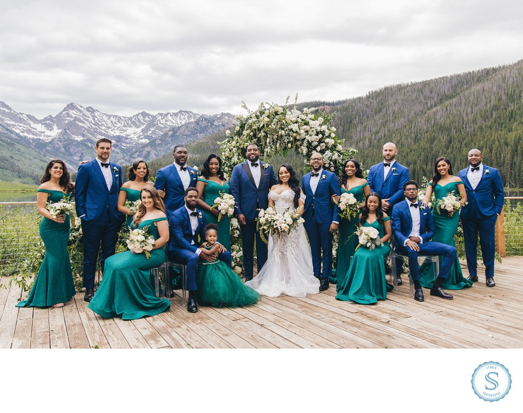 Piney Ranch Wedding Party