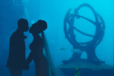 Atlantis Bahamas Aquarium Wedding
