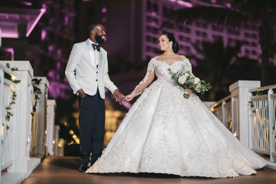 Bahamar Wedding Night Photos