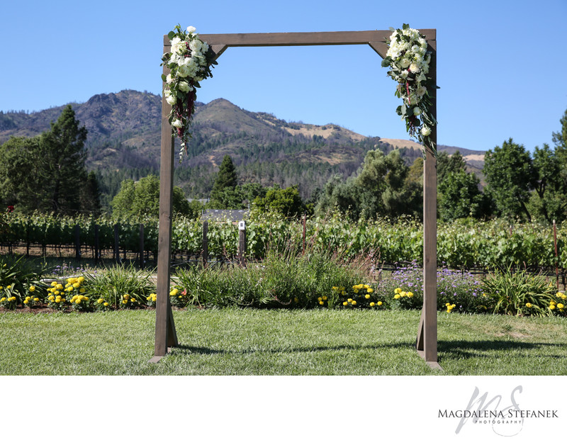 landmark winery wedding ceremony