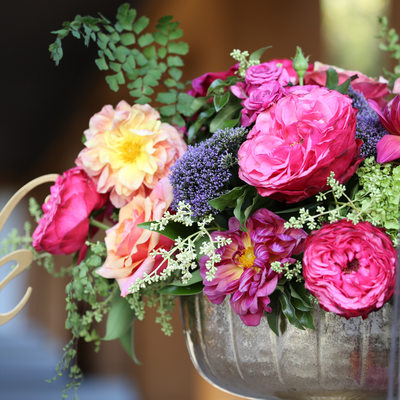 flower arrangement by wine country flowers at Viansa
