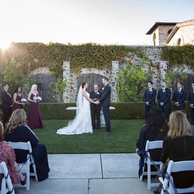 wedding ceremony at Jacuzzi Winery