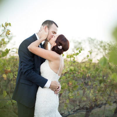Jacuzzi Winery vineyard wedding photos