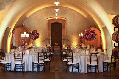 viansa winery wedding cave