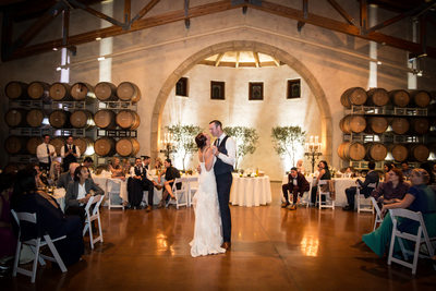 First dance at Jacuzzi Winery Barrel Room