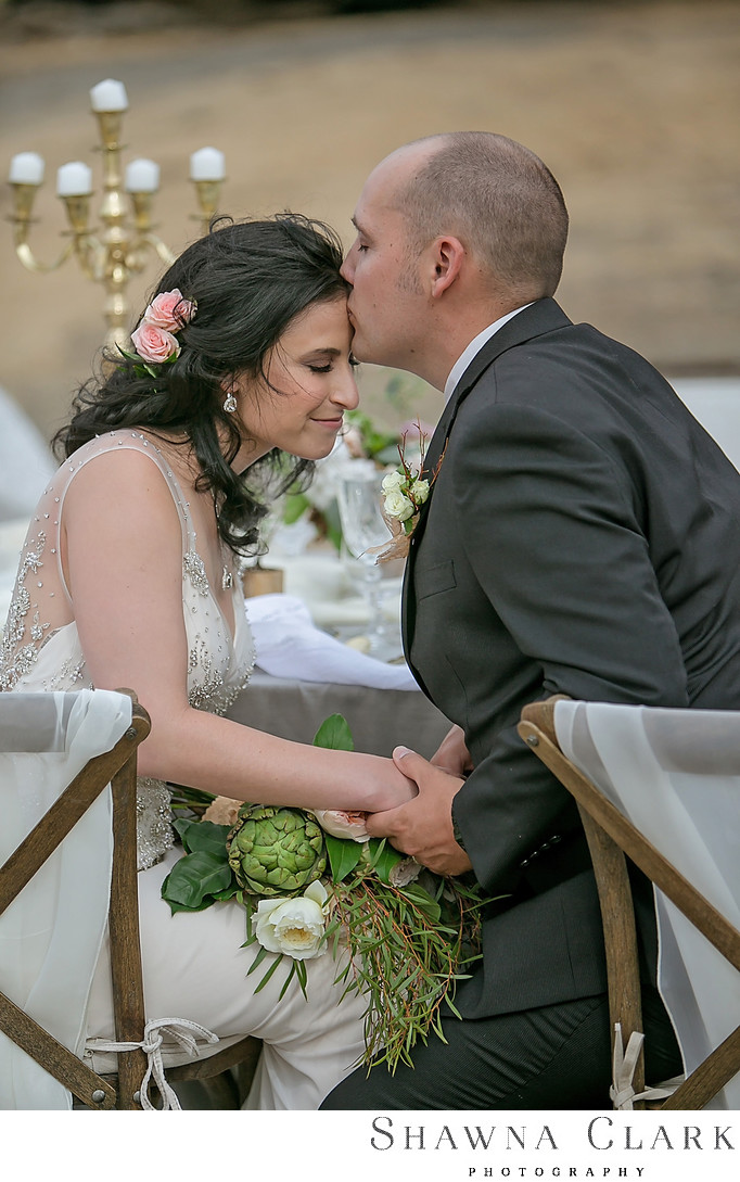 Forehead kiss - Best Raleigh Wedding Photographer