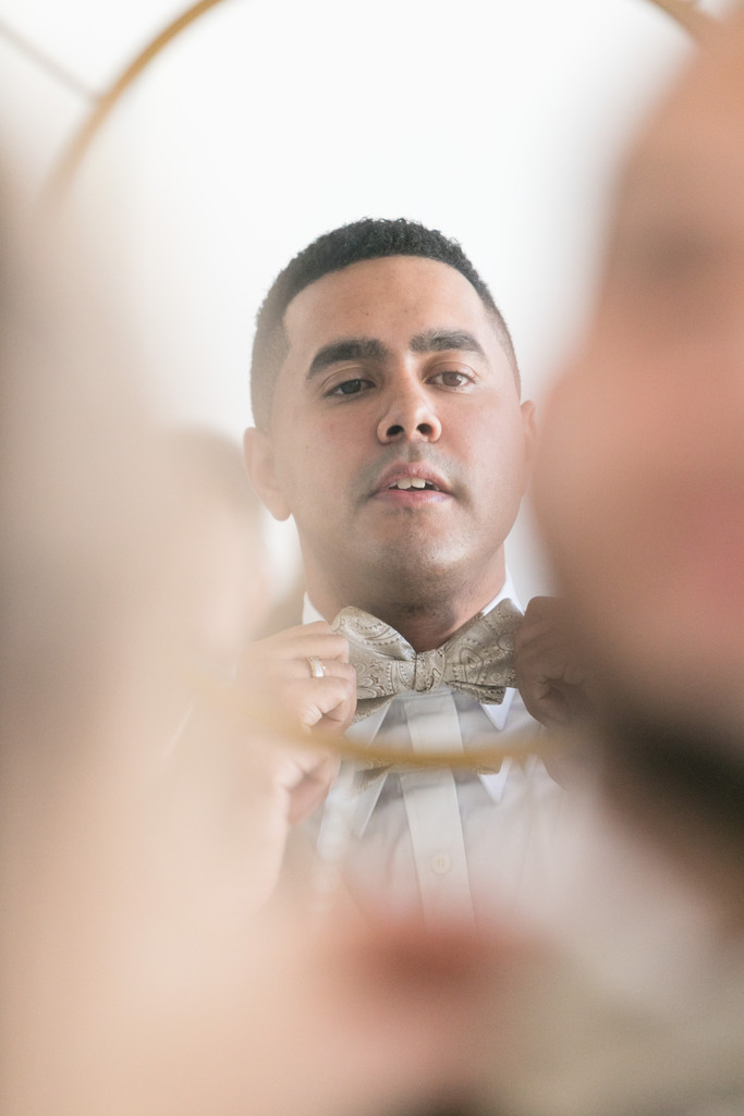 Groom getting ready- Glassbox