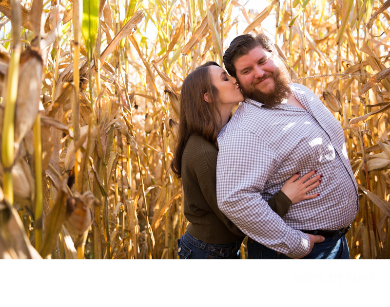 Fall Engagement Session at the Pumpkin Patch