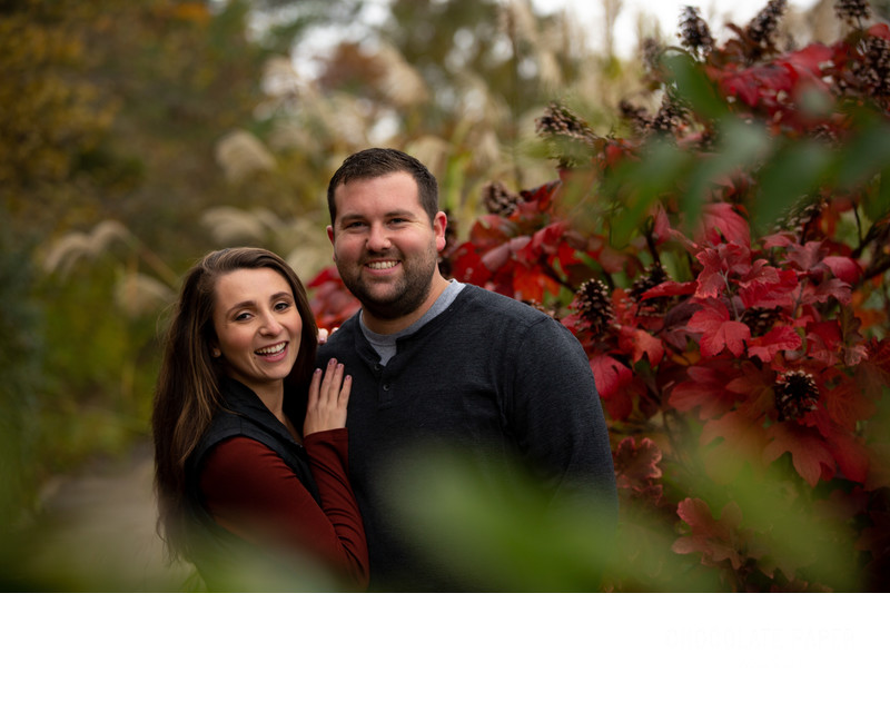 Fun Fall Engagement Session in Ault Park