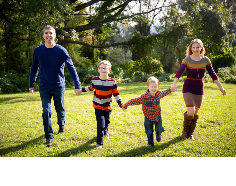 Fall Family Photo Session at Alms Park