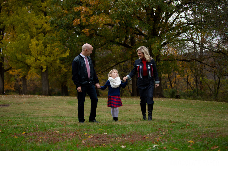 Family Christmas Card Photo Session at Alms Park