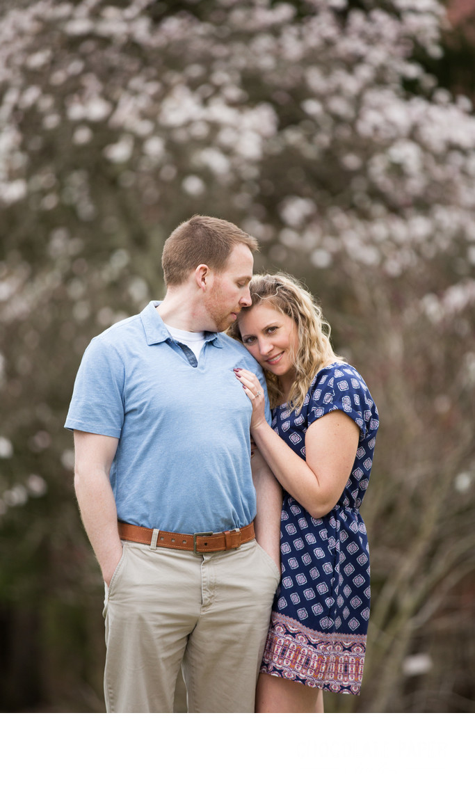 Spring Engagement Session at Eden Park