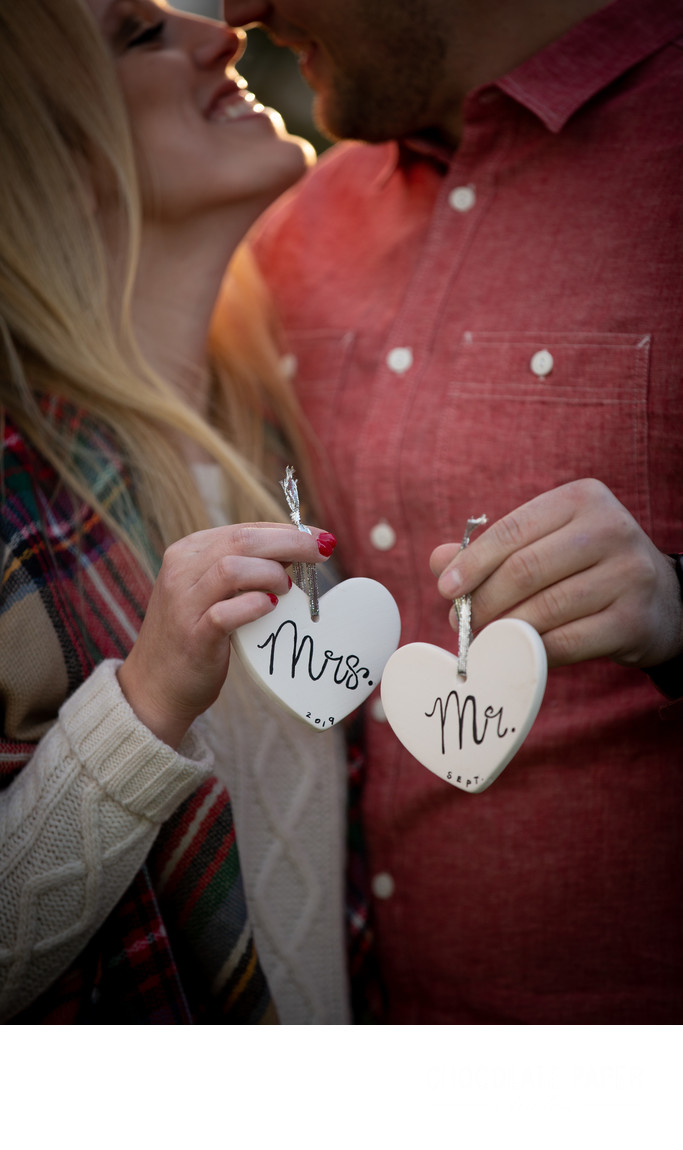 Winter Engagement Session at Corsi Tree Farm