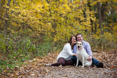 Fall Engagement Session at Sharon Woods