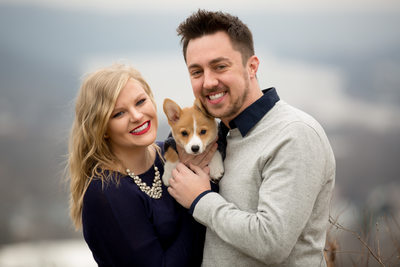 Winter Engagement Session along the Ohio River