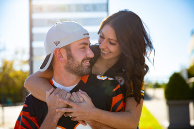 Opposing Football Fans Engagement Session at Paul Brown Stadium