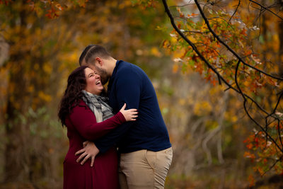 Fall Engagement Session in Rowe Woods