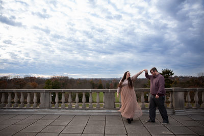 Fall Engagement Session at Ault Park
