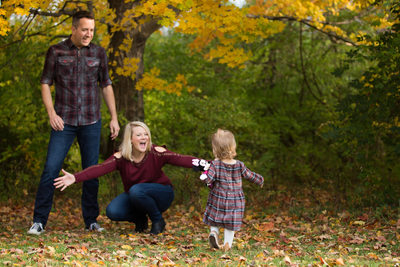 Fun Fall Family Photo Session at Florence Nature Park