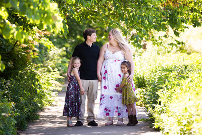 Summer Family Photo Session in Ault Park