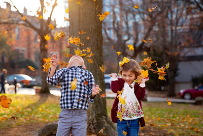 Fall Family Photo Session at George Rogers Clark Park
