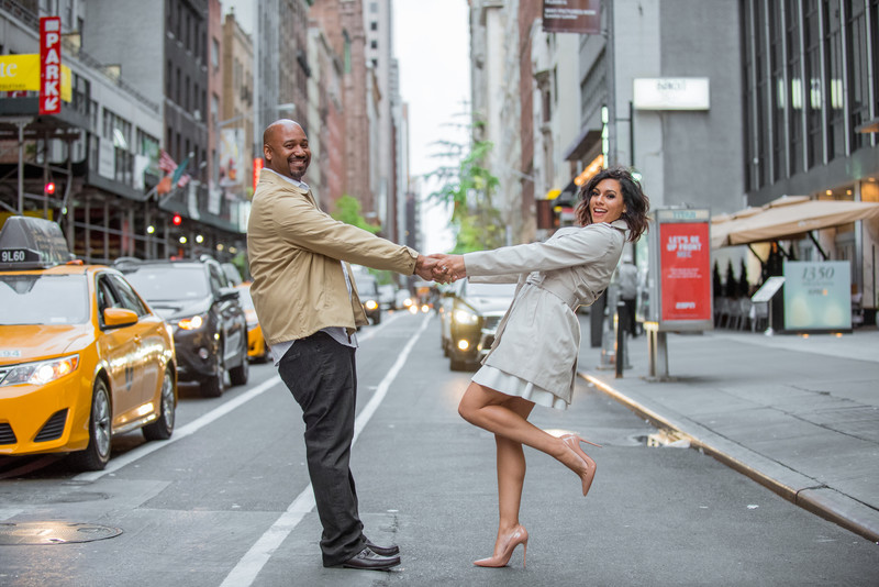 New York City Engagement Photos - Trene' Forbes