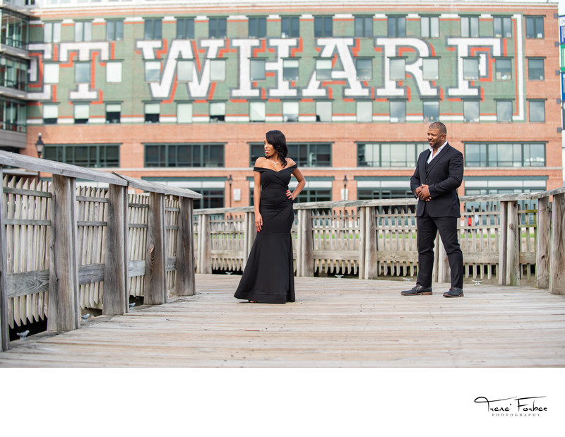 Baltimore Fells Point Engagement Photos