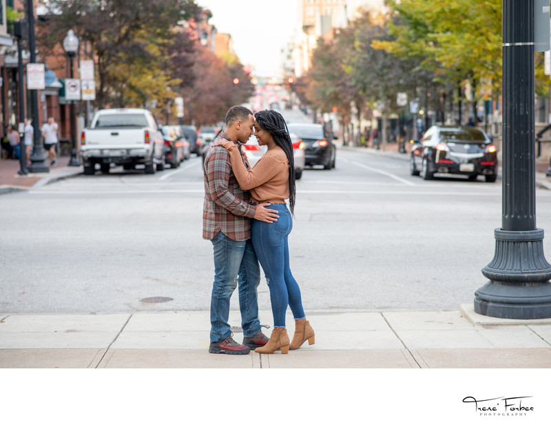 Engagement photos in Baltimore