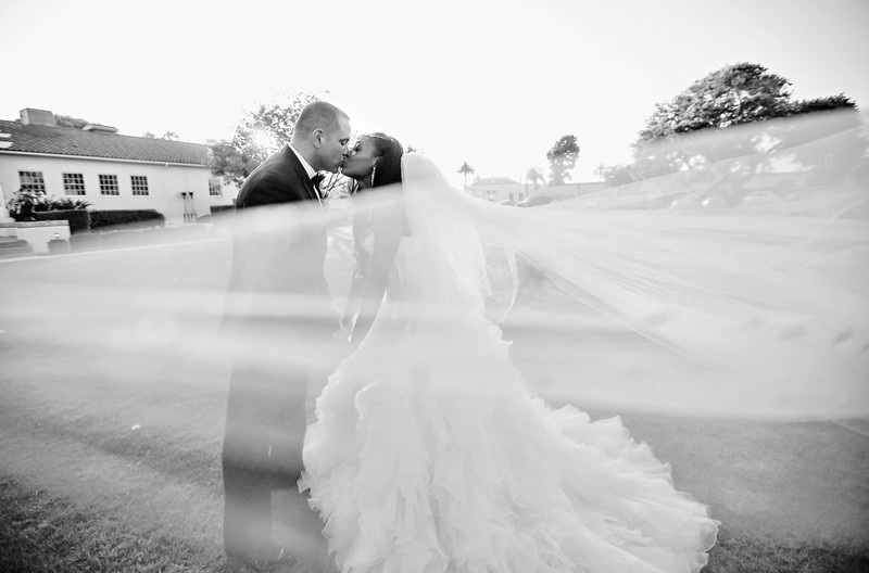 fort macarthur wedding awesome veil flying