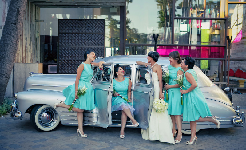 Hotel Maya Wedding Vintage Bridal Party