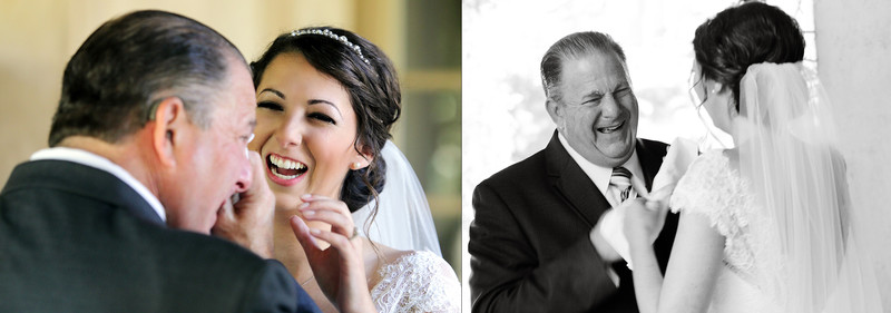 Los Angeles Wedding Photographer dads first look