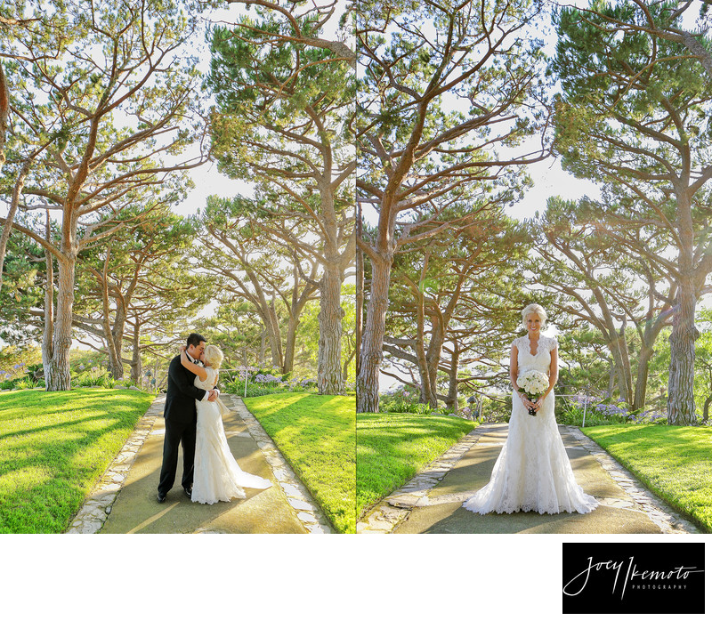 wayfarers chapel wedding beautiful trees